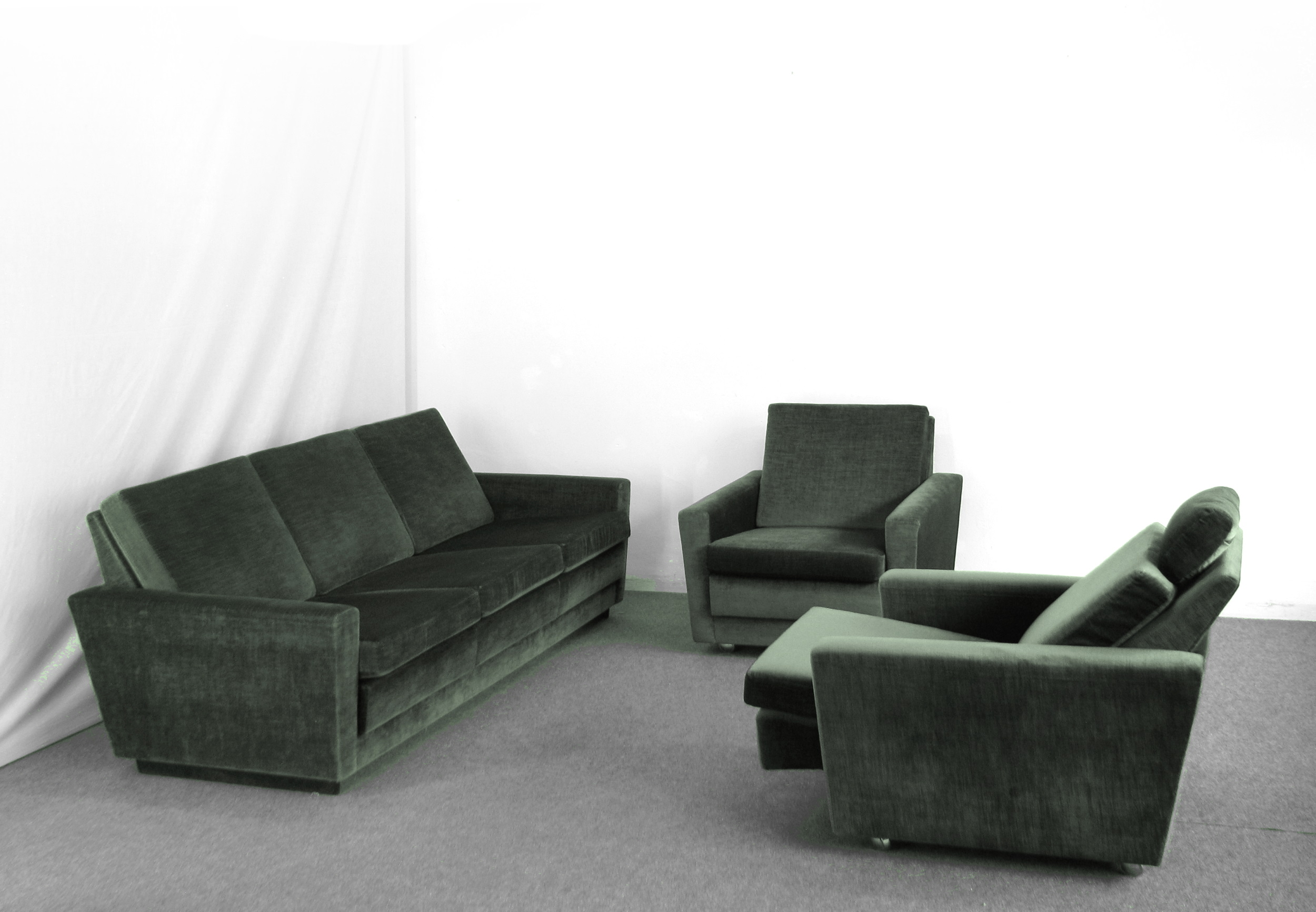 couchgruppe clubcouch 2 sessel mit relaxfunktion cordsamt top zustand 70er ebay. Black Bedroom Furniture Sets. Home Design Ideas