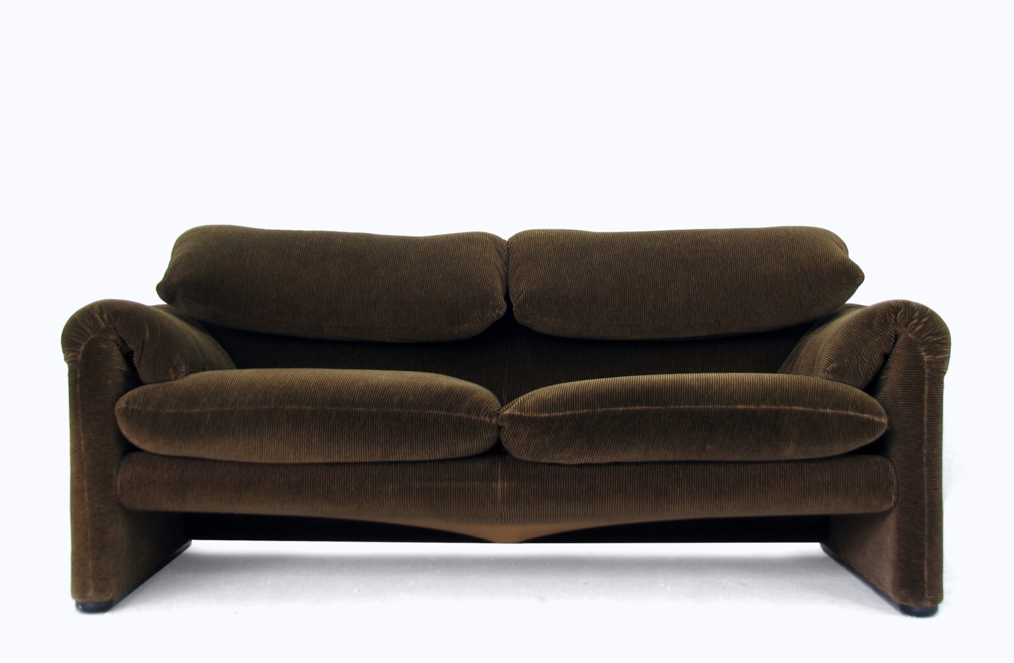 Design couch 2 sitzer maralunga cassina cord sofa 70er ebay for 70 er jahre couch