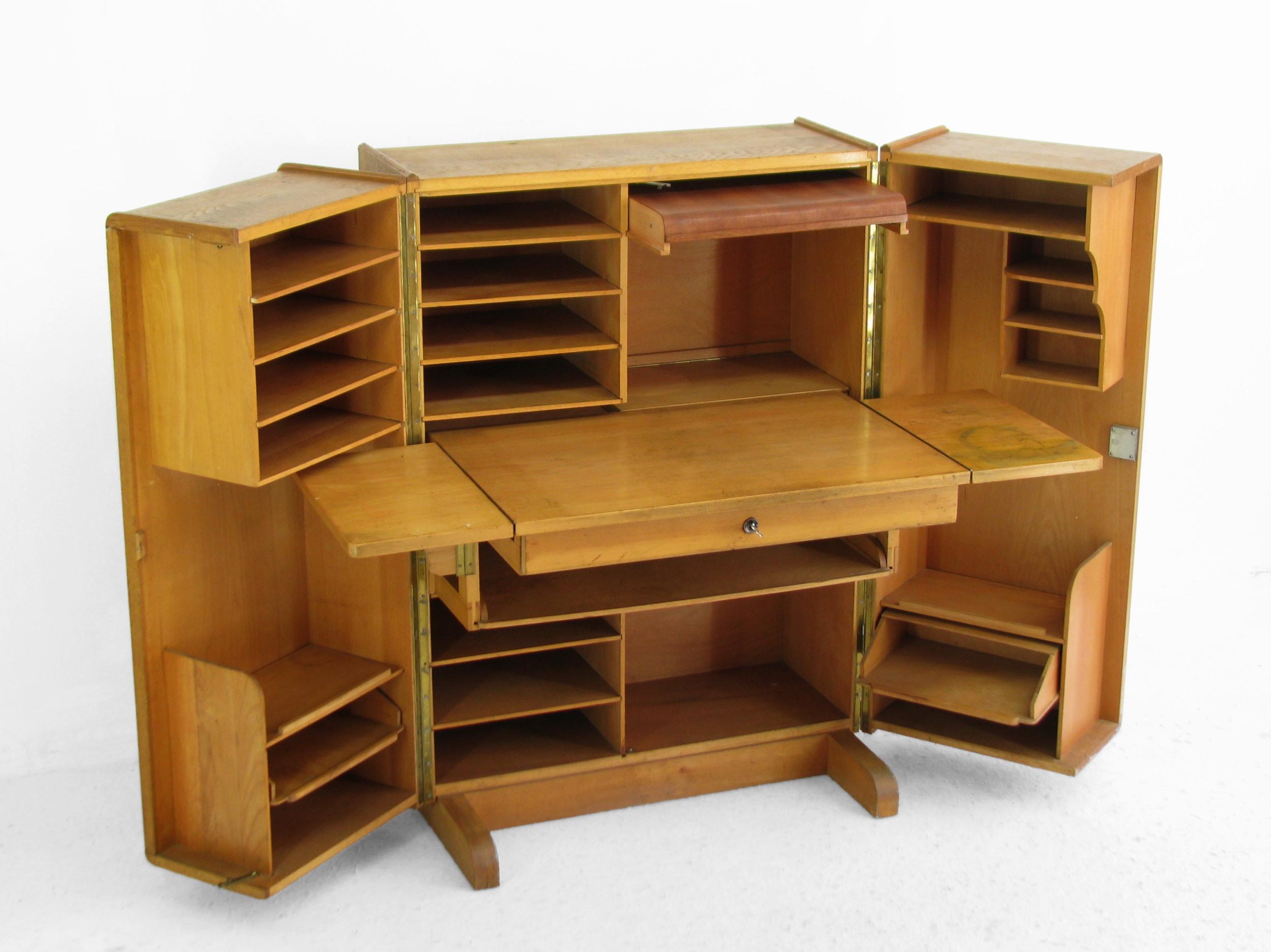 schrankb ro bauhaus kubus design hausb ro sekret r schreibtisch raumwunder 50er ebay. Black Bedroom Furniture Sets. Home Design Ideas